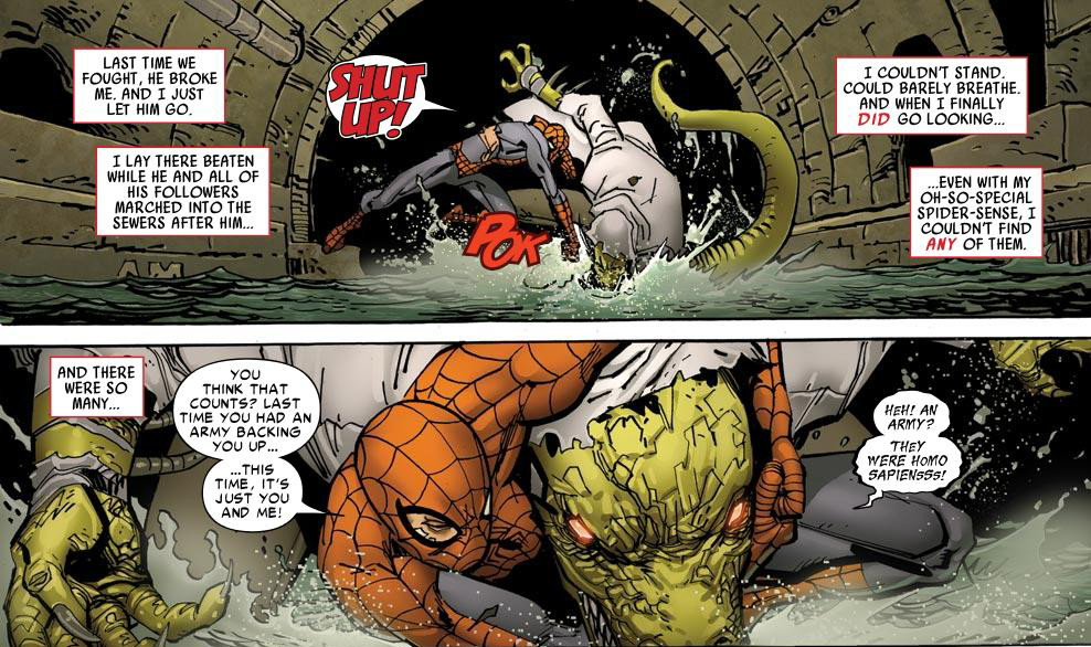 Spider-man Lizard No Turning review