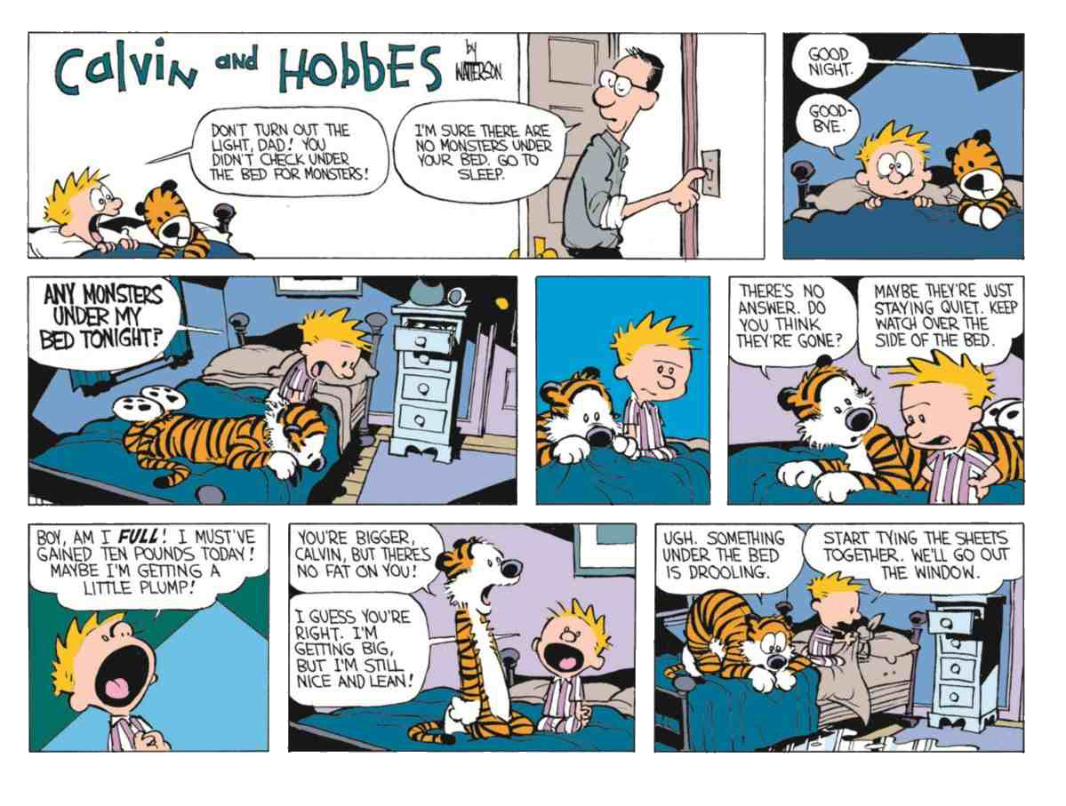 Calvin and Hobbes Something Under the Bed is Drooling review