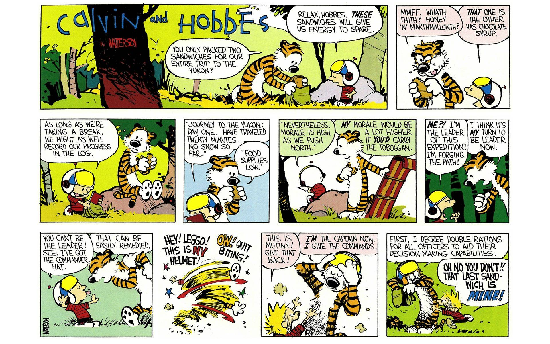Calvin and Hobbes Yukon Ho! review