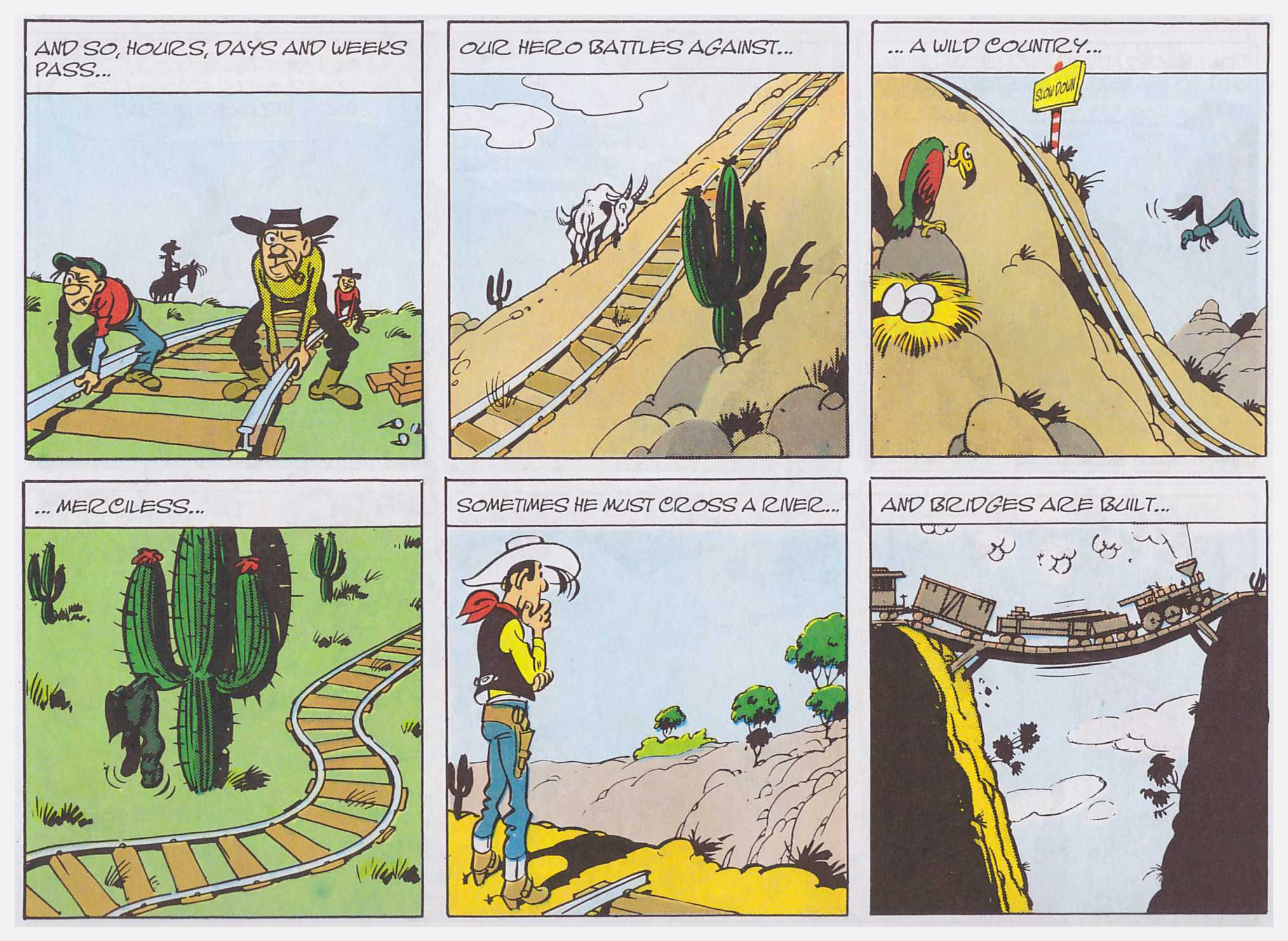 Lucky Luke Rails on the Prairie review