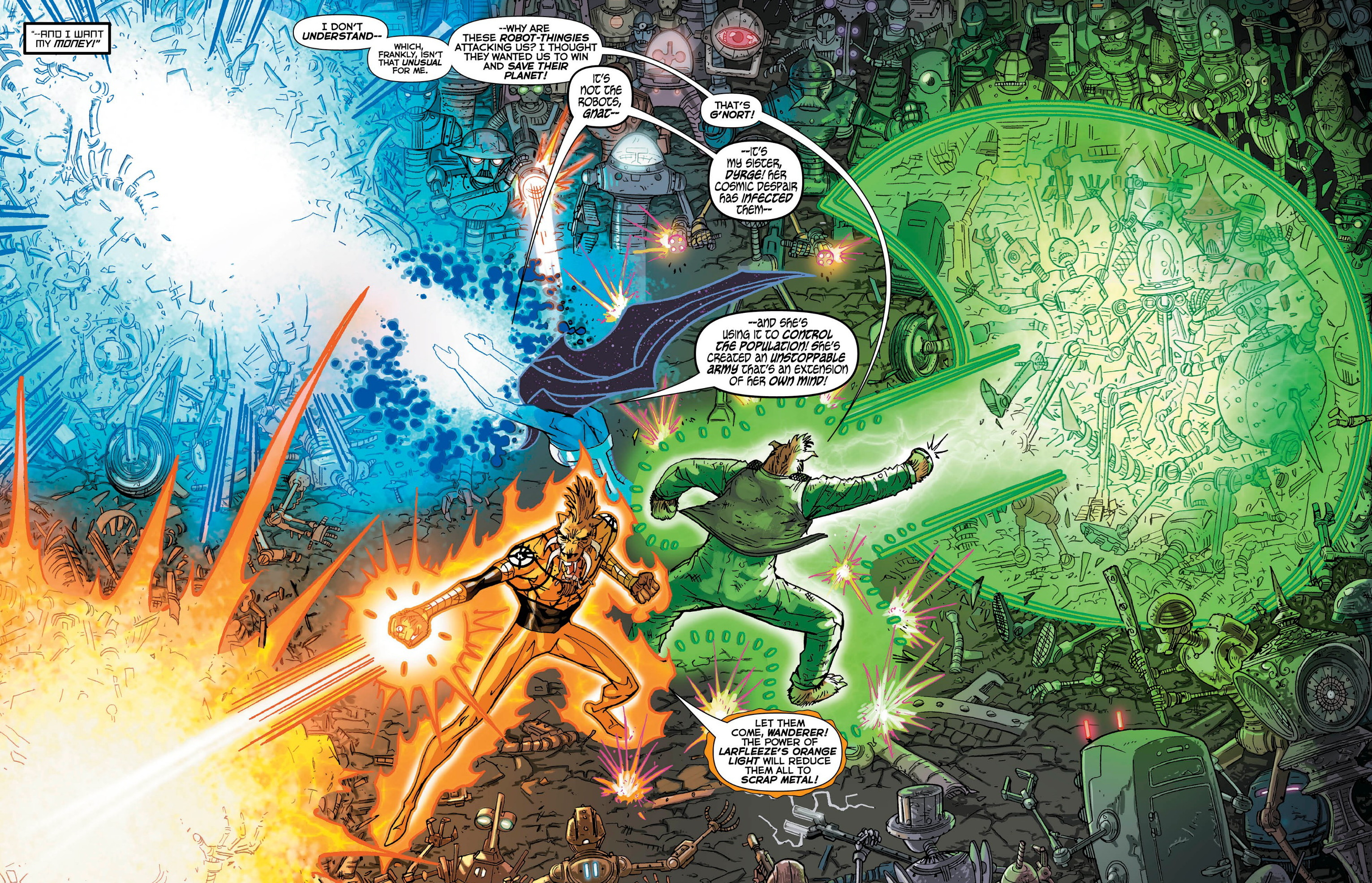 Larfleeze The Face of Greed review