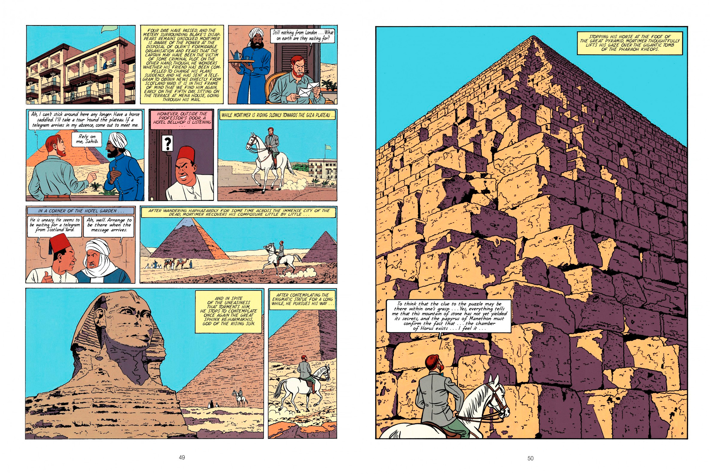 Blake and Mortimer The Mystery of the Great Pyramid Pt 1 review