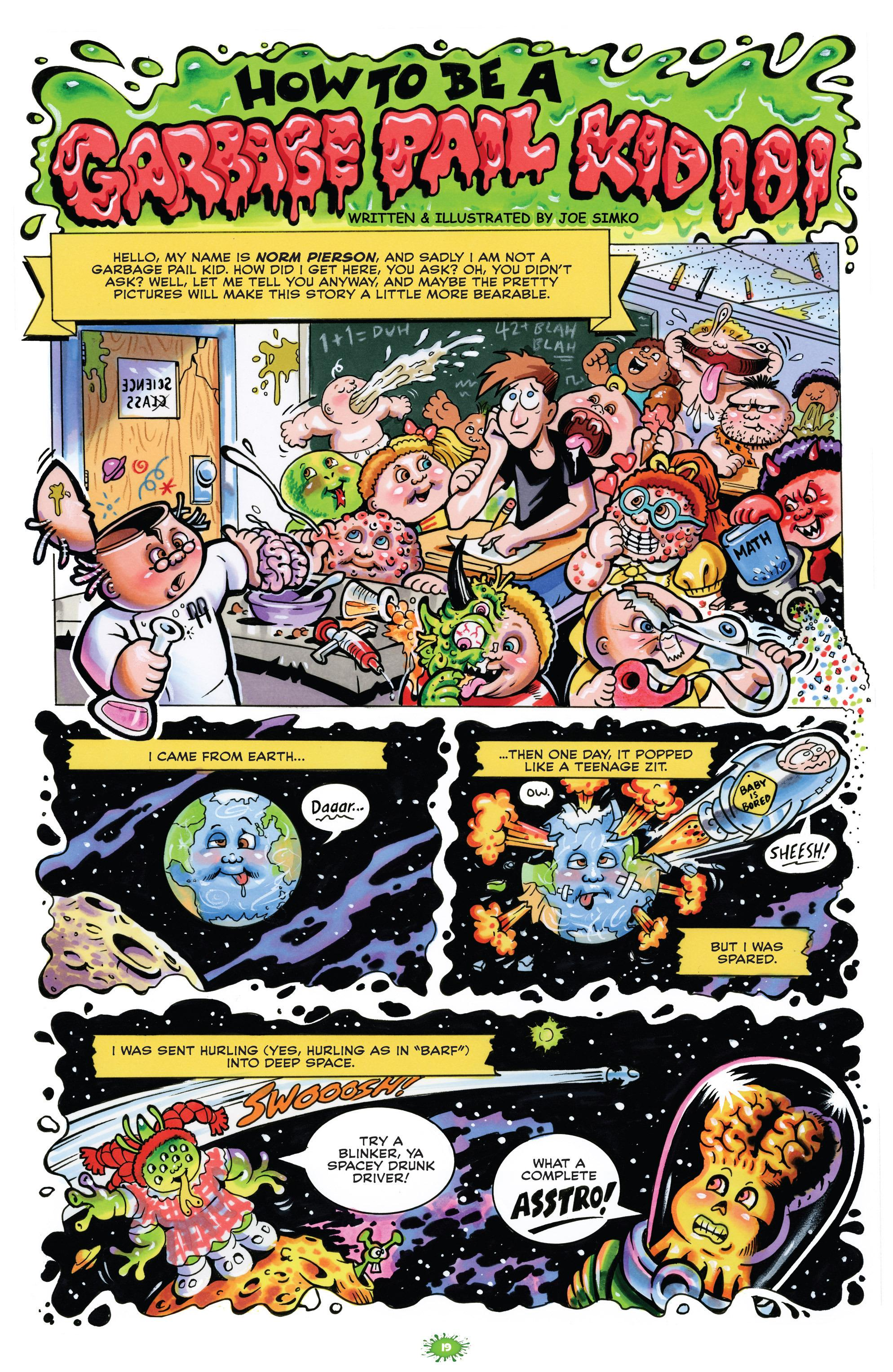 Garbage Pail Kids Comic Book Puke-Tacular review