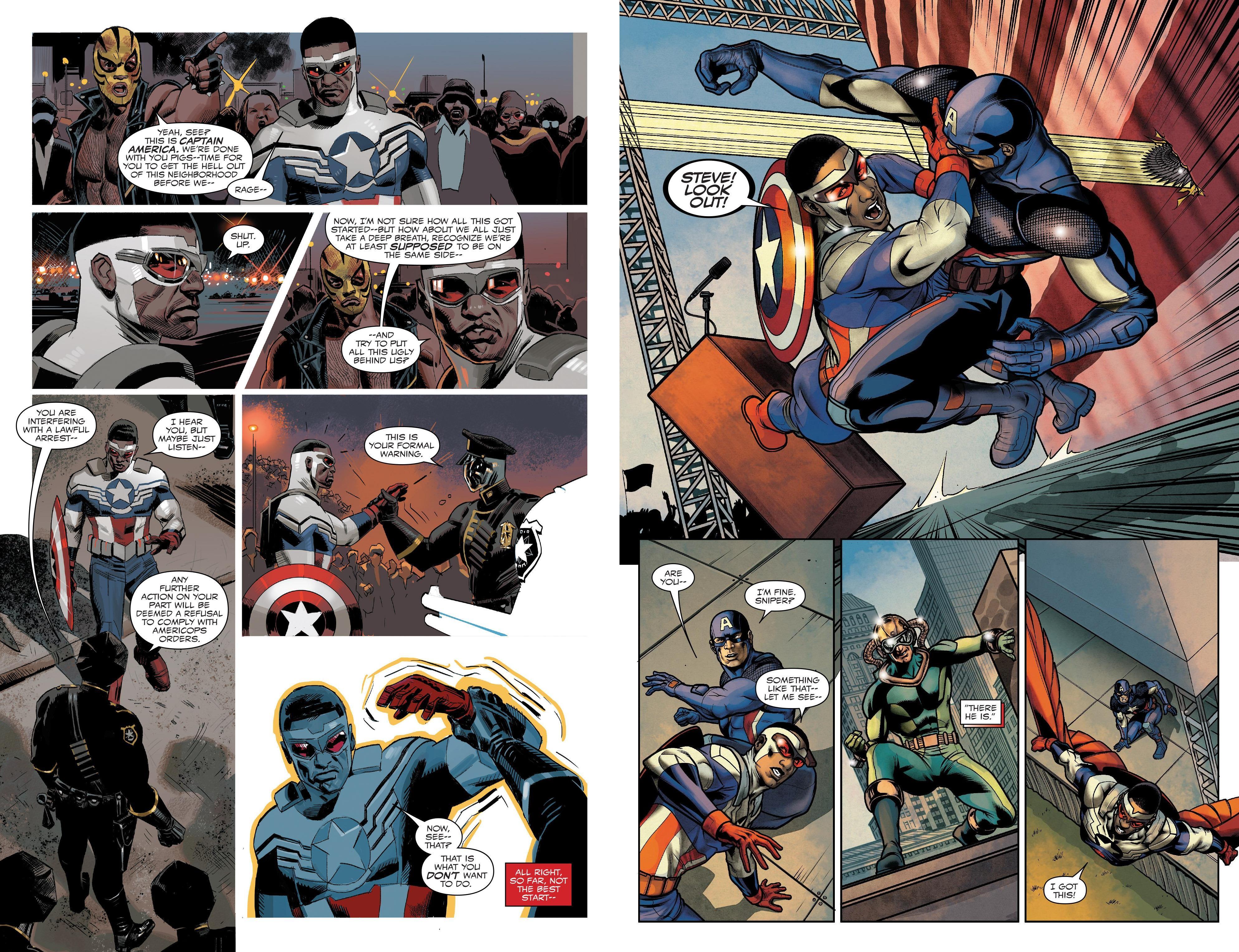 Sam Wilson Captain America Civil War II review