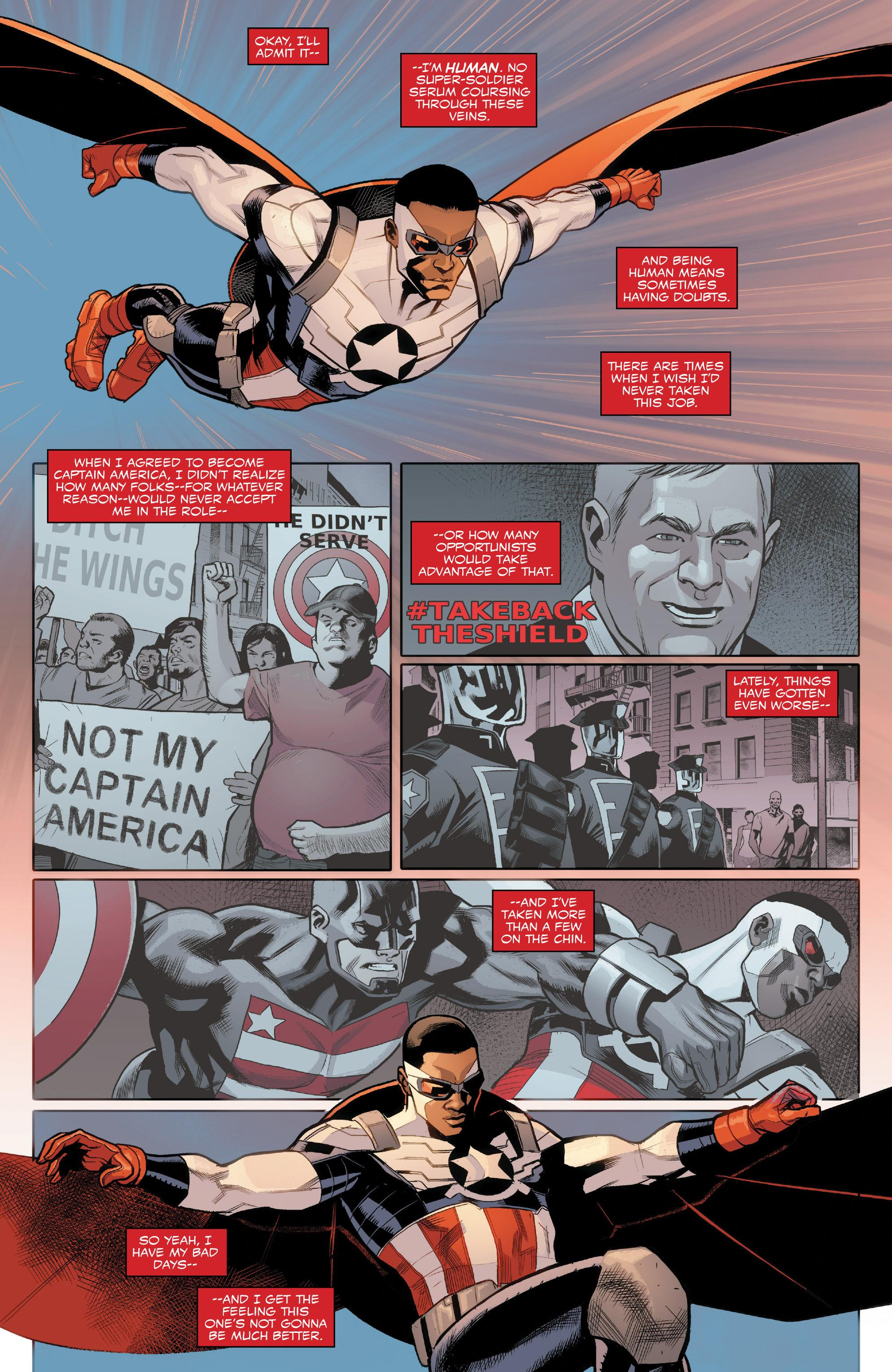 Sam Wilson Captain America #TakeBacktheShield review