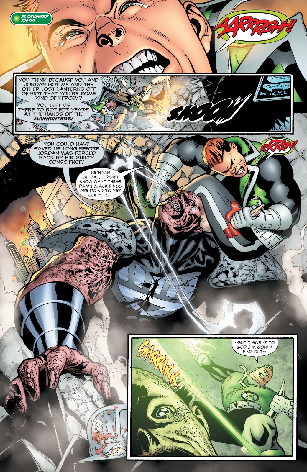 Green Lantern Corps Blackest Night review