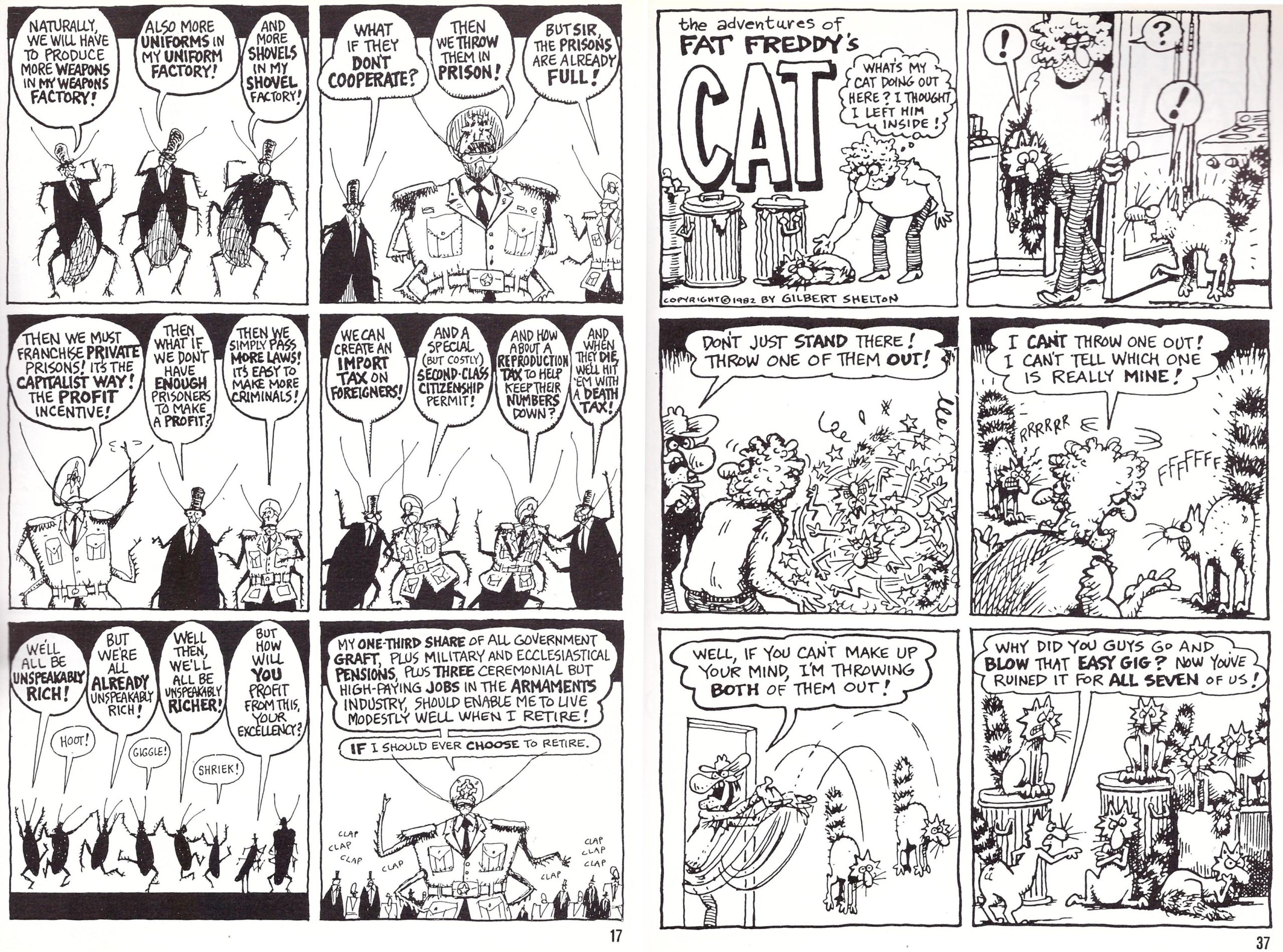 Fat Freddy's Cat War of the Cockroaches review