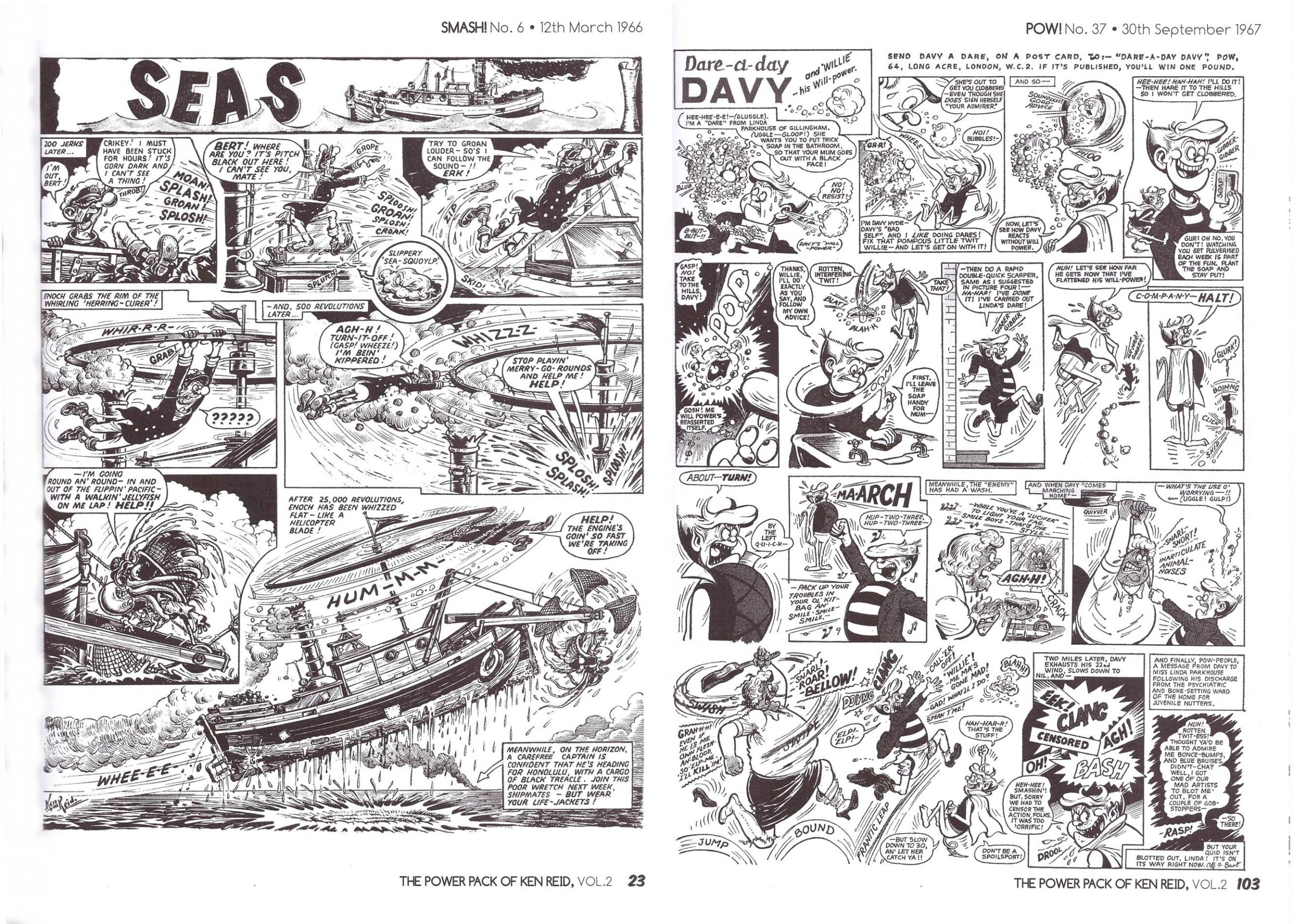 The Power Pack of Ken Reid Volume 2: Queen of the Seas, The Nervs and Dare-A-Day Davy review
