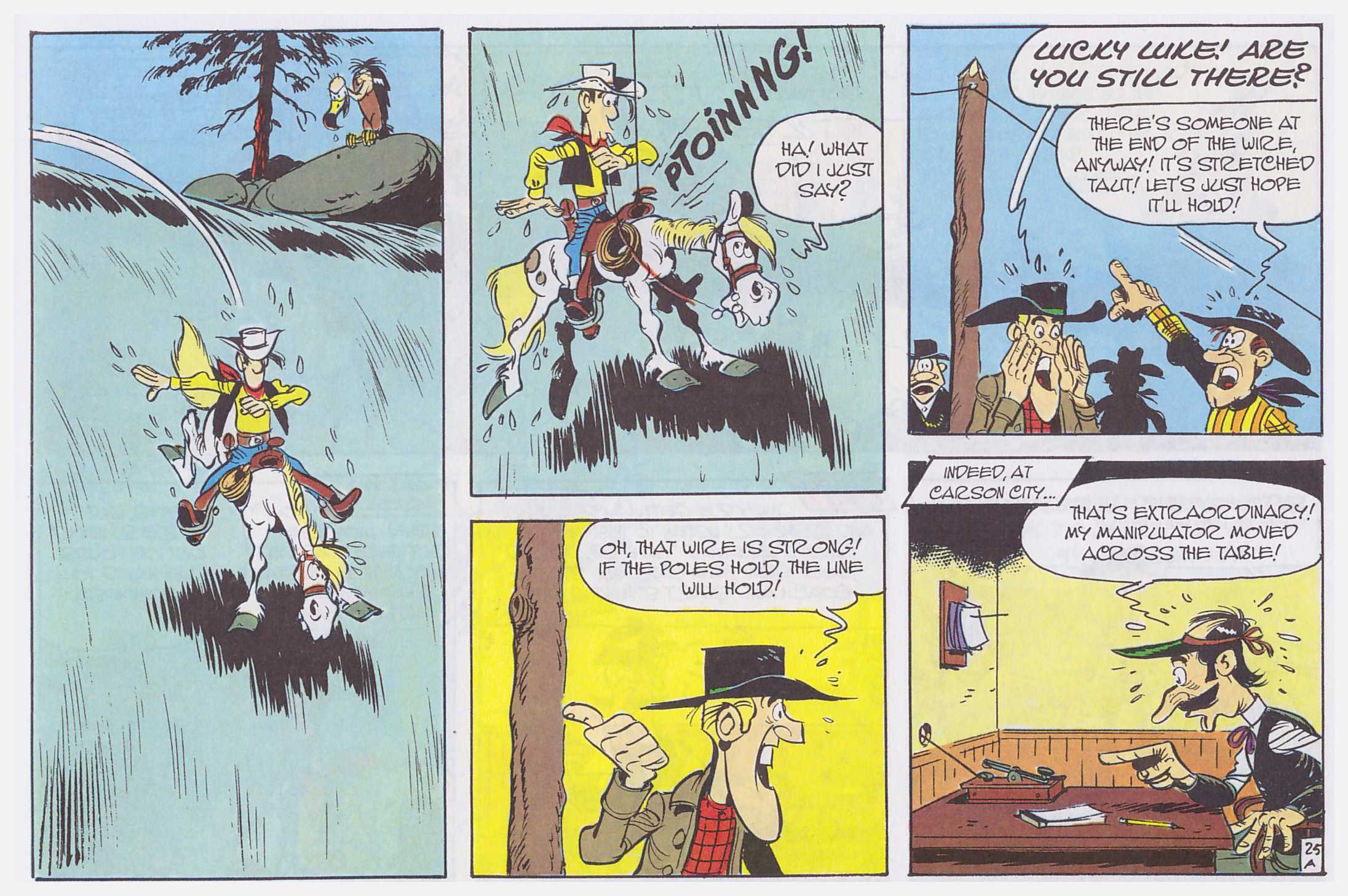 Lucky Luke The Singing Wire review