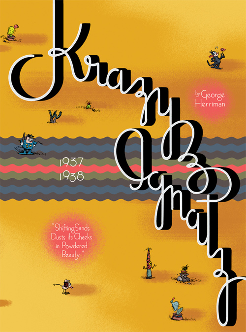"""Krazy & Ignatz 1937-1938: """"Shifting Sands Dusts Its Cheeks in Powdered Beauty"""""""