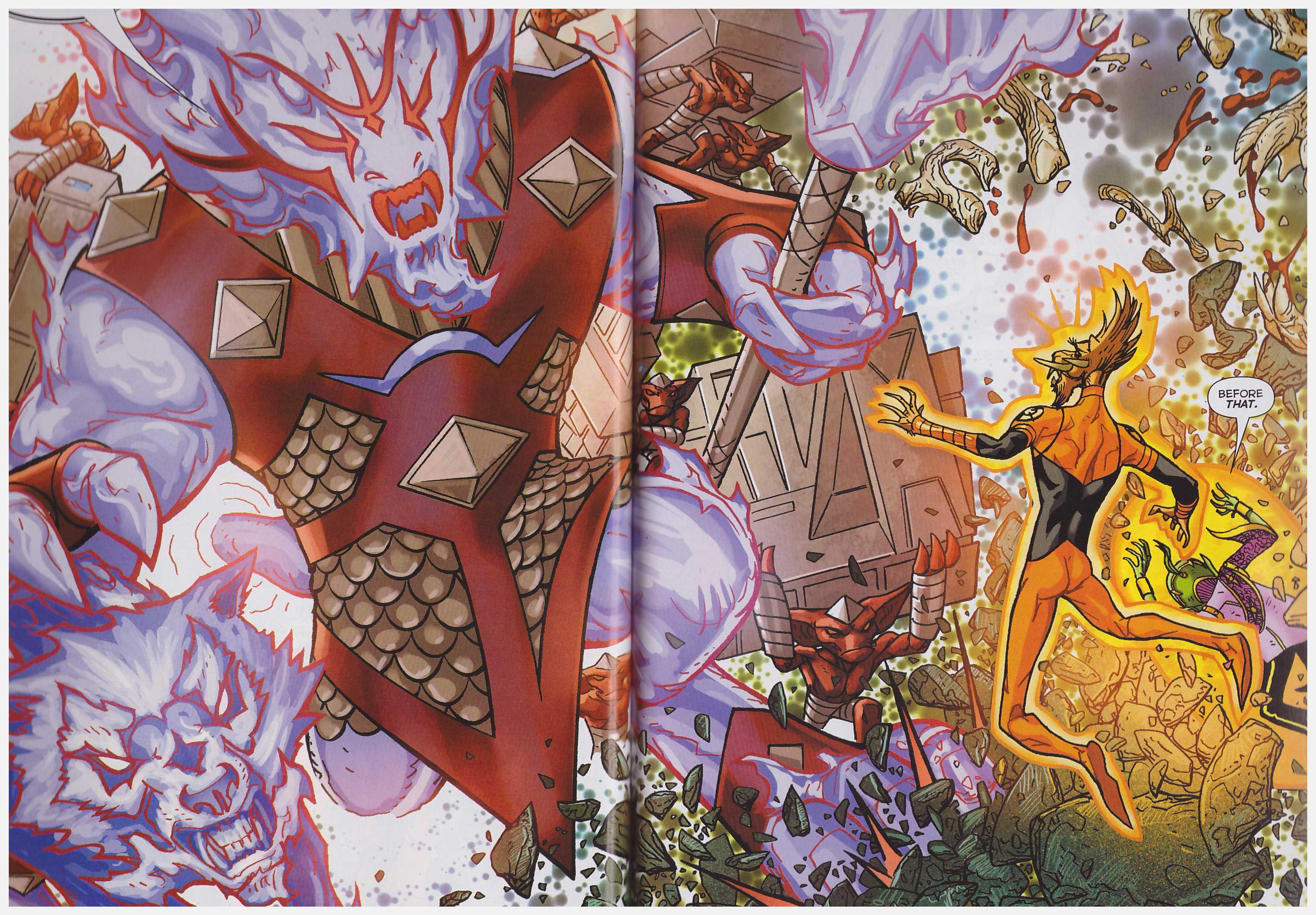 Larfleeze revolt of the Orange Lanterns review
