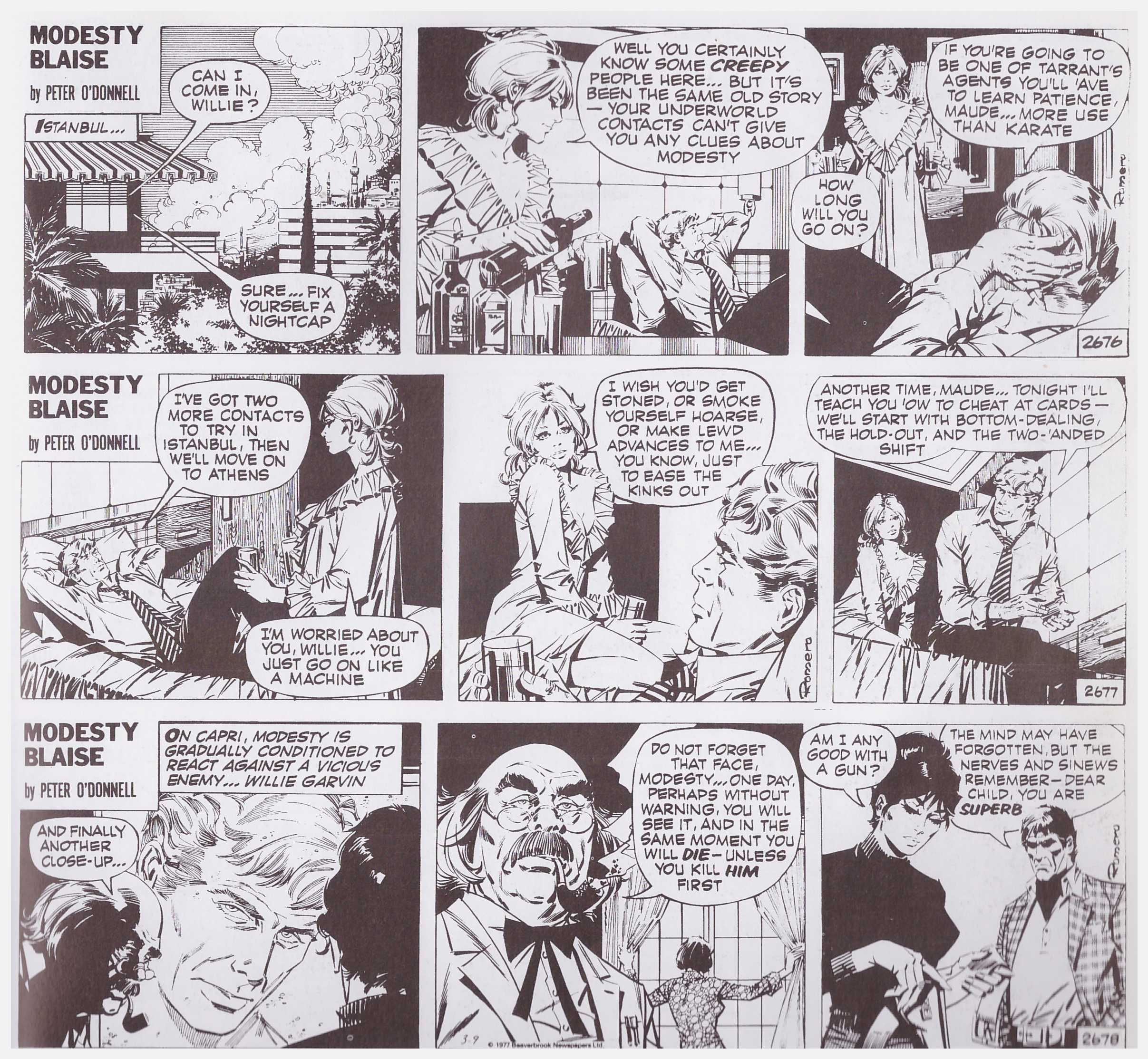 Modesty Blaise The Puppet Master review
