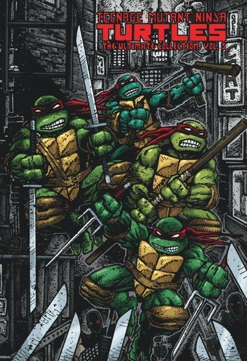 Eastman and Laird's Teenage Mutant Ninja Turtles: Ultimate Black & White Collection/The Works Vol. 5