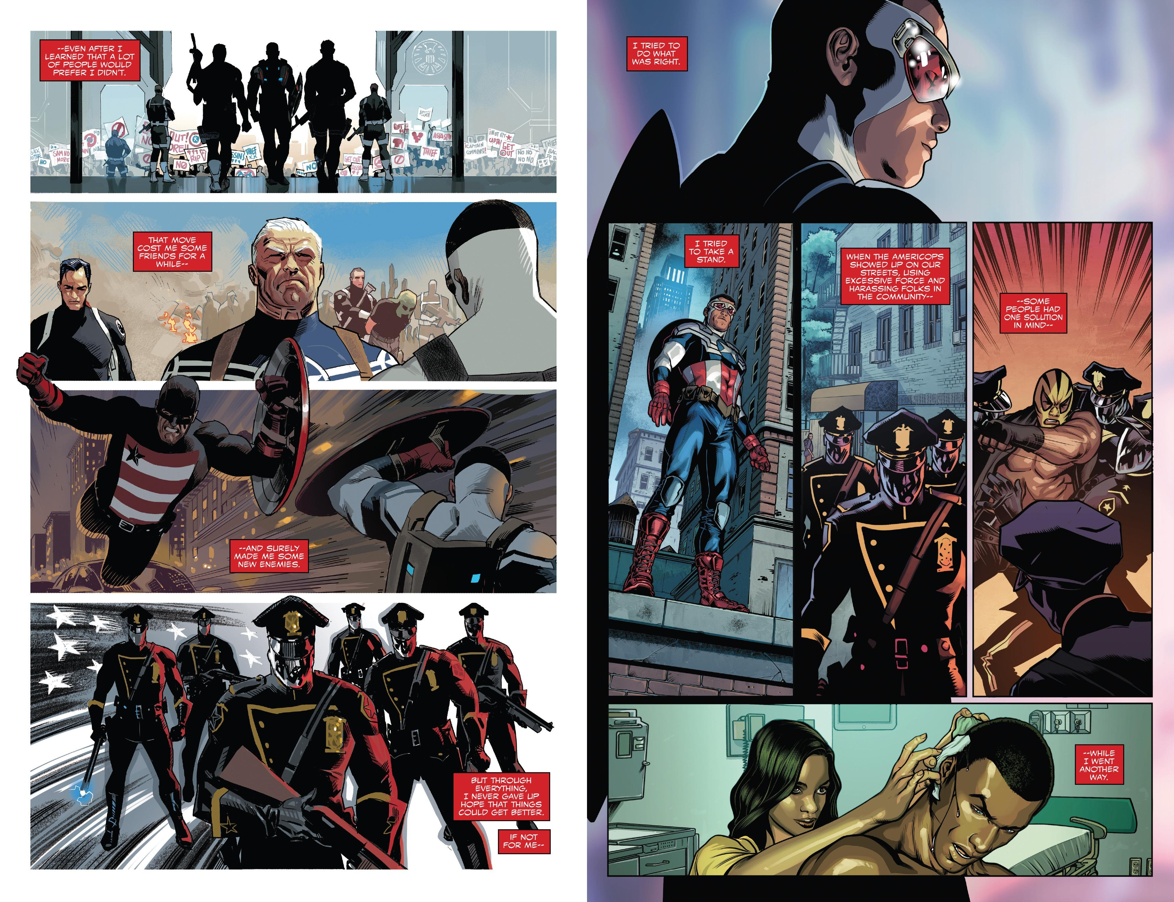 Sam Wilson Captain America End of the Line review