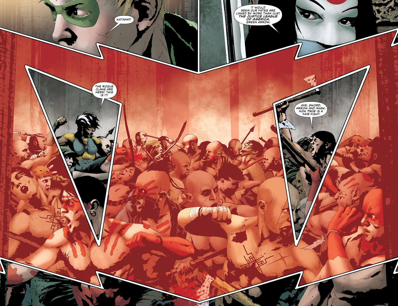 Green Arrow War of the Clans review