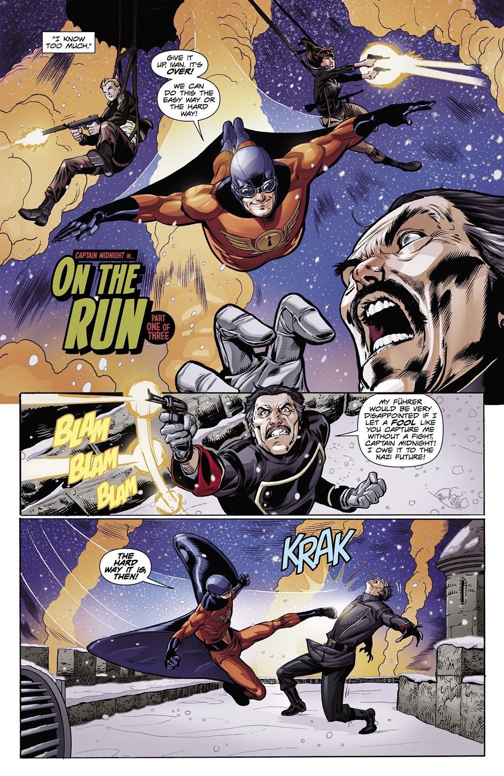 Captain Midnight On the Run review