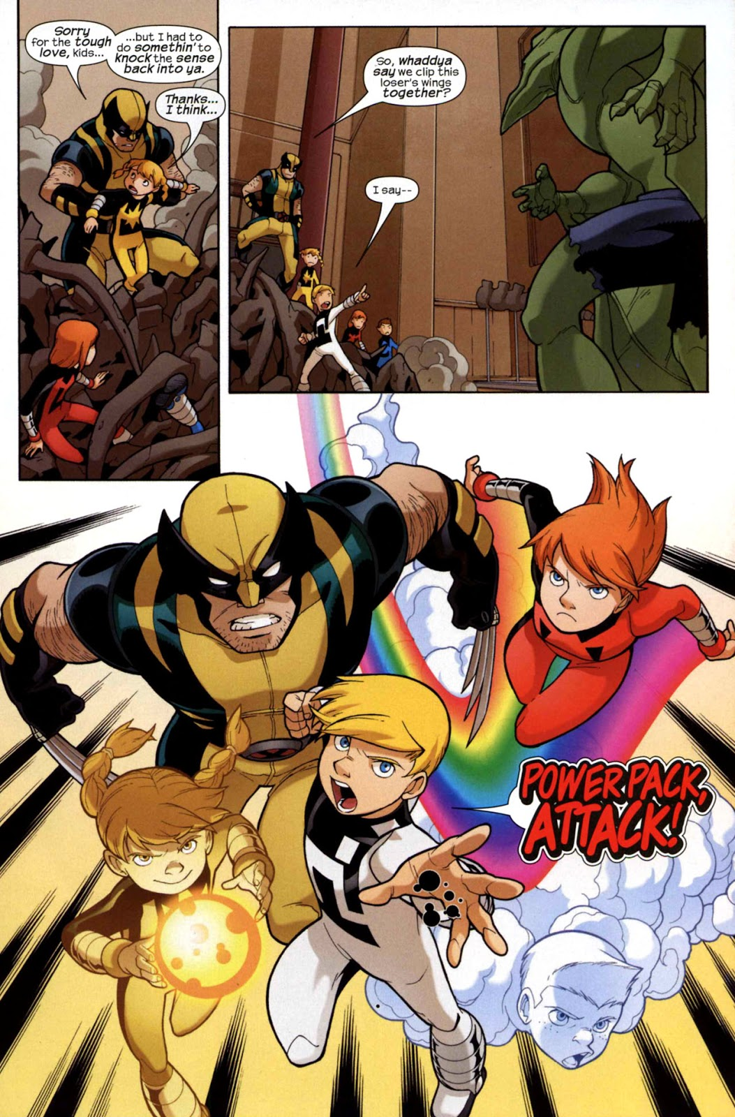 Wolverine and Power Pack The Wild Pack review