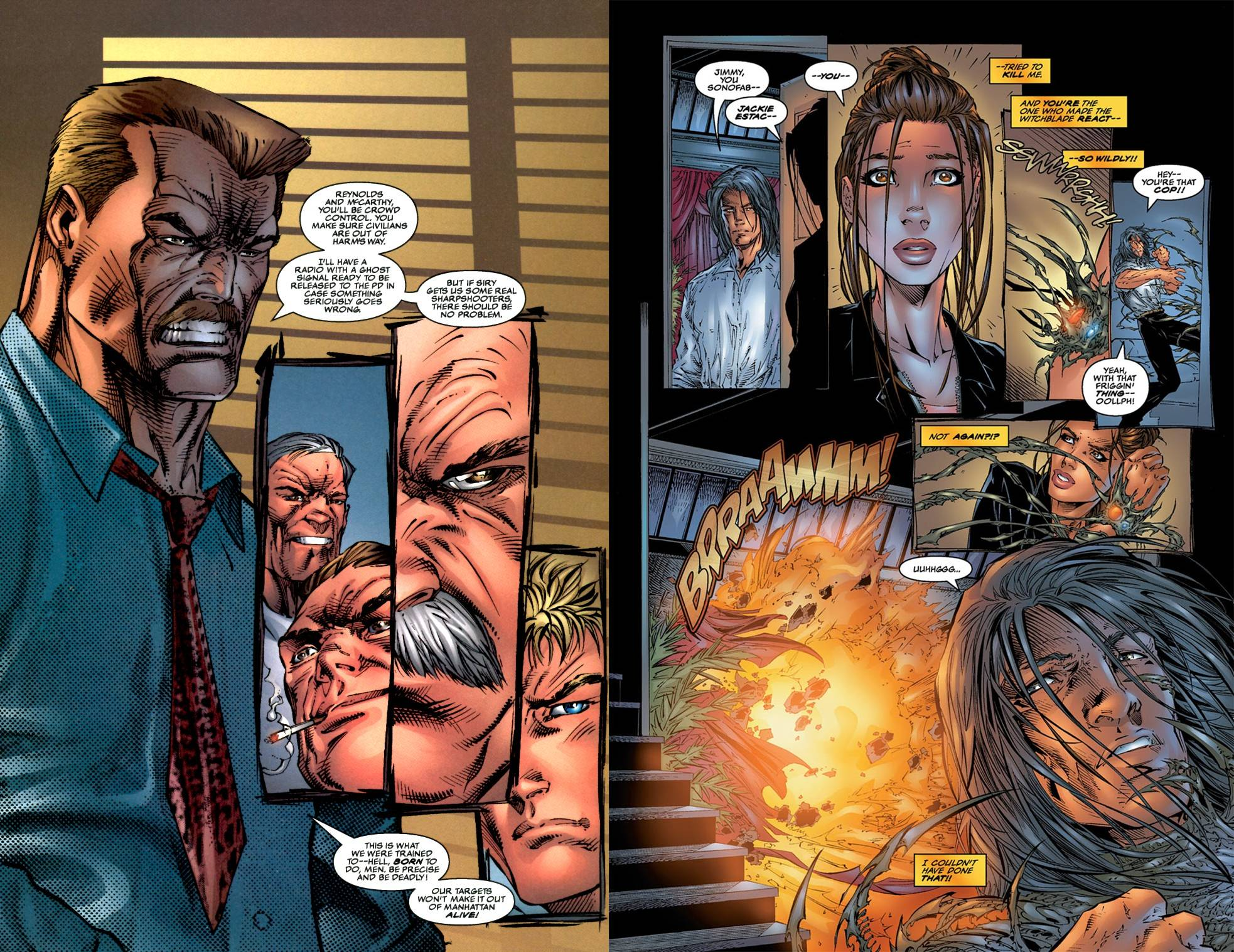 Witchblade Darkness Family Ties review