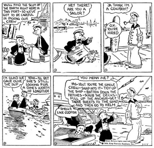 "E. C. Segar's Popeye Vol. 1: ""I Yam What I Yam!"" review"
