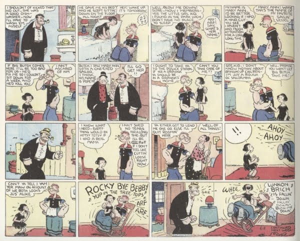 """E. C. Segar's Popeye Vol. 3: """"Let's You and Him Fight!"""" review"""