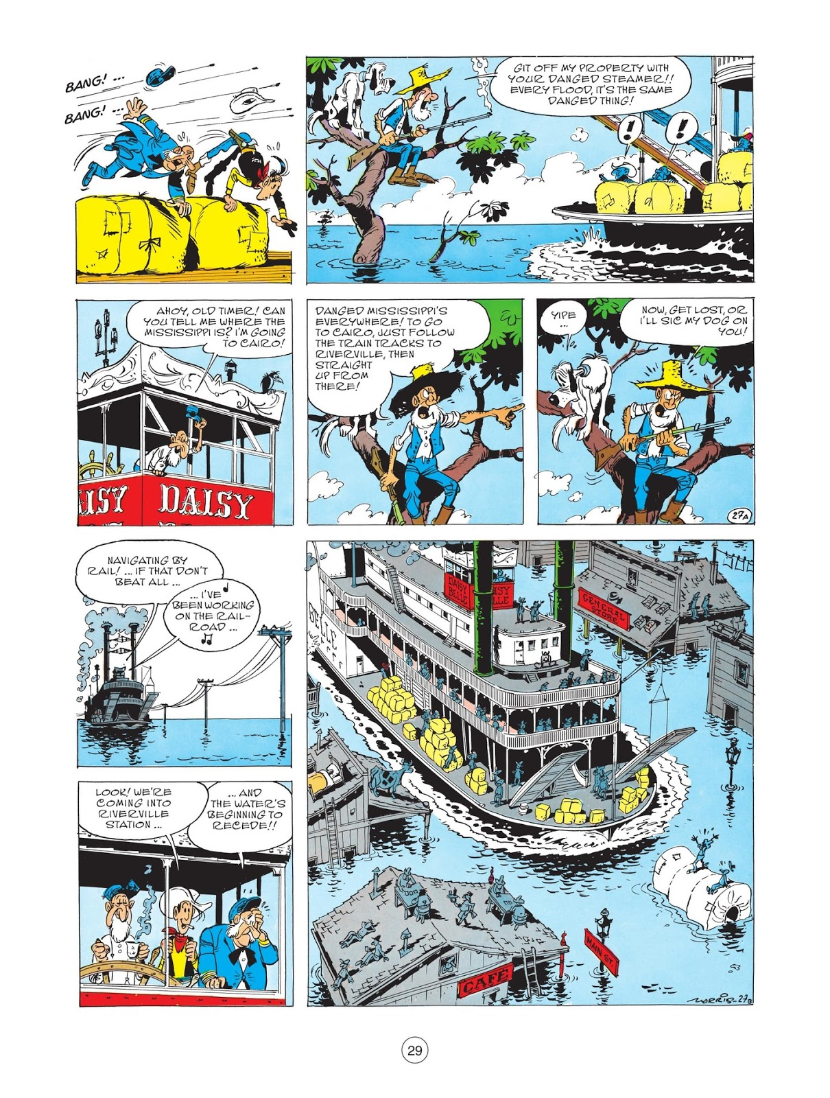 Lucky Luke Steaming up the Mississippi review