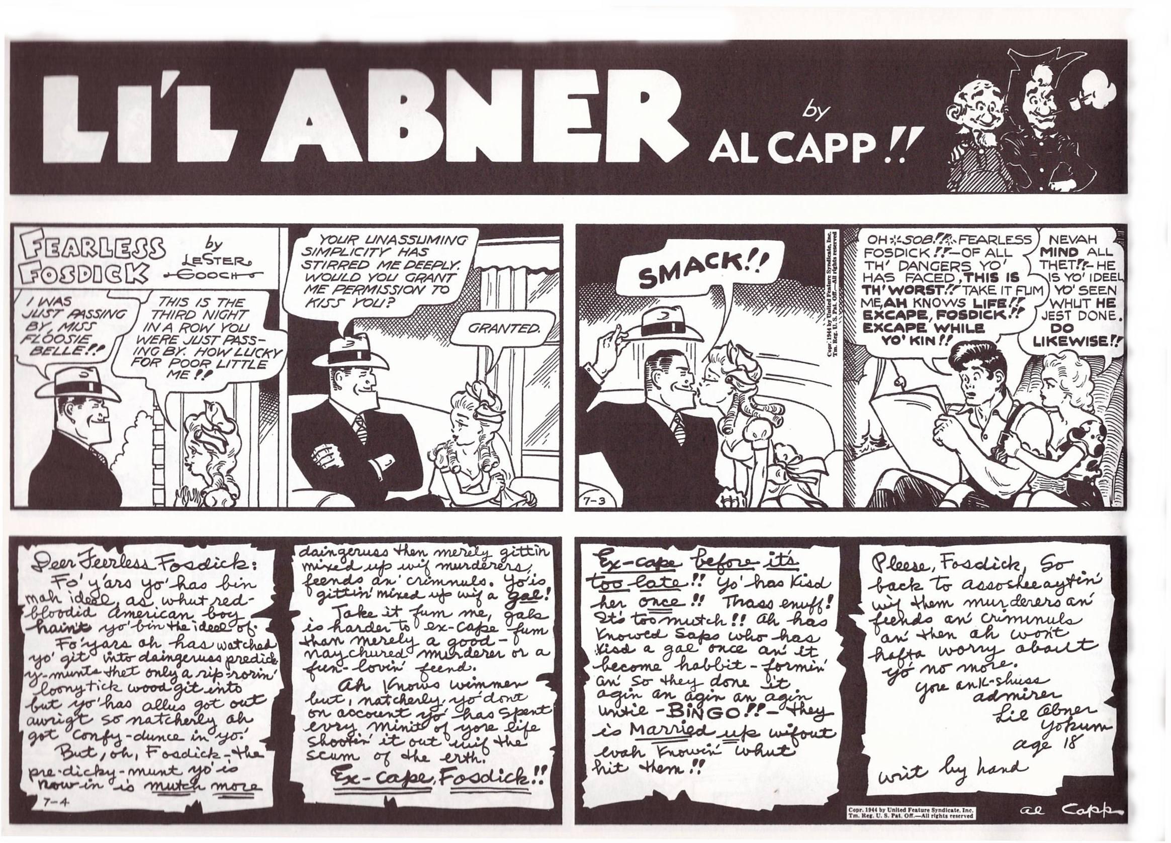 Li'l Abner The Dallies 1944 review