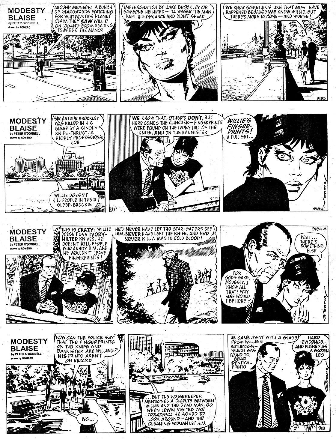 Modesty Blaise The Murder Frame review